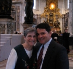 Mom and Dad at St. Peter's Basilica